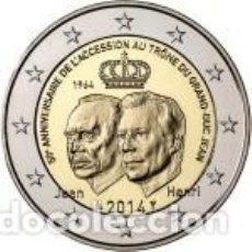 Euros: LUXEMBURGO 2014. 2 EUROS. 50º ANIVERSARIO DE LA ASCENSIÓN AL TRONO DEL GRAN DUQUE JEAN. Lote 270194148