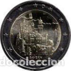 Euros: ALEMANIA 2012. 2 EUROS. CASTILLO DE NEUSCHWANSTEIN. UNA CECA. Lote 195408218
