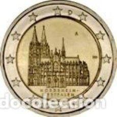 Euros: ALEMANIA 2011. 2 EUROS. ESTADO FEDERADO DE RENANIA DEL NORTE-WESTFALIA. CATEDRAL DE COLONIA. 5 CECAS. Lote 270194228