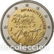 Euros: FRANCIA 2011. 2 EUROS. TRIGÉSIMO ANIVERSARIO DE LA FIESTA DE LA MÚSICA. Lote 195407942