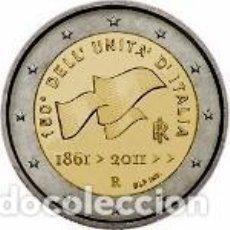 Euros: ITALIA 2011. 2 EUROS. 150º ANIVERSARIO DE LA UNIFICACIÓN DE ITALIA. Lote 195408445