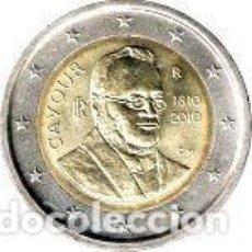 Euros: ITALIA 2010. 2 EUROS. BICENTENARIO DEL NACIMIENTO DEL CONDE DE CAVOUR. Lote 195408342