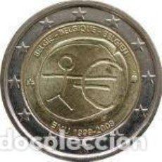 Euros: BÉLGICA 2 EUROS CONMEMORATIVOS EMU 2009. Lote 195337178