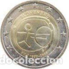 Euros: ESLOVAQUIA 2 EUROS CONMEMORATIVOS EMU 2009. Lote 195337080