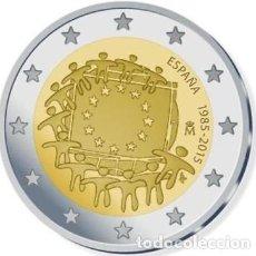 Euros: 2 EUROS ESPAÑA CONMEMORATIVA 2015 *30 ANIV. BANDERA EUROPEA* ENCAPSULADA S/C. Lote 260380105