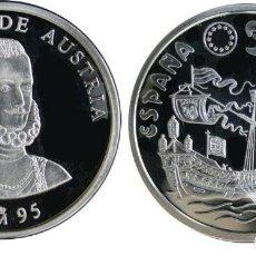 Euros: ESPAÑA: 5 ECU PLATA 1995 DON JUAN DE AUSTRIA - LA MARINA ESPAÑOLA 1 ONZA. Lote 224701737