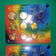 Euros: ESPAÑA 2 ESTUCHES EUROSET DE 1999 Y 2001. Lote 145210486