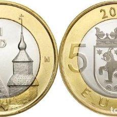 Euros: FINLANDIA 5 EUROS BIMETÁLICAS 2013. REGIÓN TAVASTIA. Lote 219729256