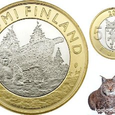 Euros: FINLANDIA 5 EUROS BIMETALICA 2015. REGIÓN DE TAVASTIA – LINCE. Lote 215104177