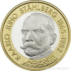 Euros: FINLANDIA 5 EUROS BIMETALICA 2016. SERIE PRESIDENTES – K.J. STÅHLBERG. Lote 165231552