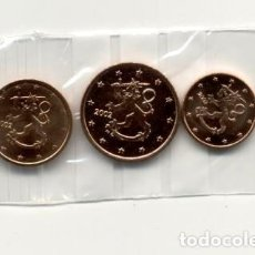 Euros: FINLANDIA 2002 TRÍO 1, 2 Y 5 CÉNTIMOS 2002 S/C, DE CARTUCHO . Lote 151632164