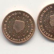 Euros: HOLANDA TRÍO 1C 2C 5C 2000 PROOF (FRENTE MATE FONDO ESPEJO) S/C . Lote 145794322