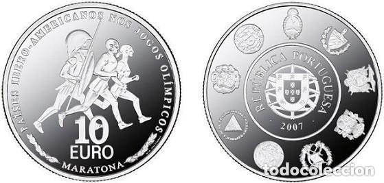 PORTUGAL 2007. 10 EUROS PAISES IBEROAMERICANOS - MARATON - S/C (Numismática - España Modernas y Contemporáneas - Ecus y Euros)