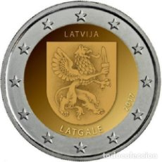 Euros: 2 EUROS LETONIA 2017 LATGALE COINCARD. Lote 145910758