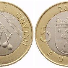Euros: FINLANDIA 5 EUROS BIMETALICA 2010. REGIÓN DE SATAKUNTA. Lote 145978526