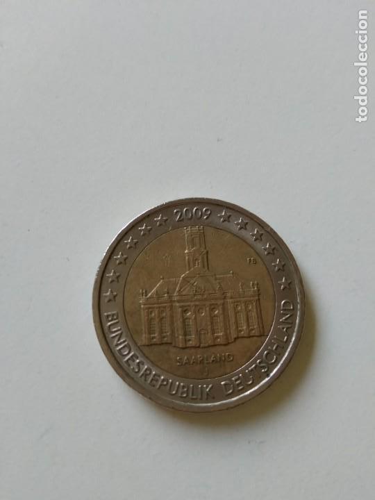MONEDA 2 EUROS SAARLAND 2009 (Numismática - España Modernas y Contemporáneas - Ecus y Euros)