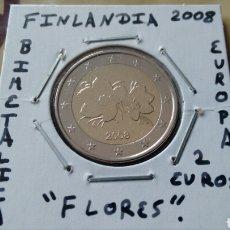 Euros: MONEDA 2 EUROS FINLANDIA 2008 MBC ENCARTONADA. Lote 194949762