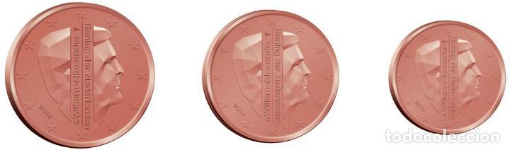SET / TRIO EUROS HOLANDA 2015 1, 2 Y 5 CENT (Numismática - España Modernas y Contemporáneas - Ecus y Euros)