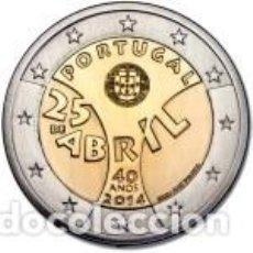 Euros: PORTUGAL 2014 2 EUROS 40 AÑOS DEL 25 DE ABRIL. SIN CIRCULAR. Lote 195457122