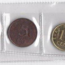 Euros: ESPAÑA : SERIE DE 5 MONEDAS EUROS DE PRUEBA ( CHURRIANA ). Lote 149979810