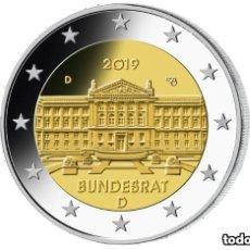 Euros: ALEMANIA 2019 5X2€ BUNDESRAT A, D, F, J, G. Lote 176830938