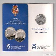Euros: CARTERA NUMERADA DE JUAN CARLOS I DE 12 EUROS DE 2004. PLATA. BODA DE FELIPE Y LETIZIA. SC.. Lote 150270464