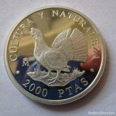 Euros: 2000 PESETAS DE PLATA -CULTURA Y NATURALEZA ( UROGALLO ) COMPLETAMENTE NUEVA. Lote 150318478