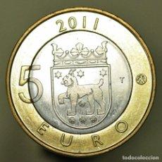 Euros: 5 EUROS FINLANDIA 2011 TAVASTIA-HAME. Lote 150546438