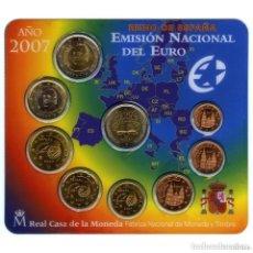 Euros: ESPAÑA CARTERA OFICIAL -BLISTER- F.N.M.T. AÑO 2007 * EMISION NACIONAL DEL EURO+2 € CONM. : T. ROMA. Lote 158945778