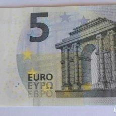 Euros: BILLETE 5 € SIN CIRCULAR VA ESPAÑA 2013 FIRMA DRAGHI. Lote 151828726