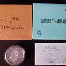 Euros: MONEDA DE PLATA 5000 PTAS CULTURA Y NATURALEZA DOBLE OCHO REALES CABRA HISPANICA CALIDAD PROOF USADA. Lote 152382606