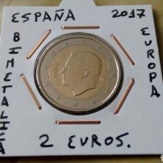 Euros: MONEDA 2 EUROS ESPAÑA 2017 FELIPE VI EBC++ ENCARTONADA. Lote 152546364