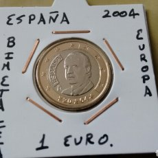 Euros: MONEDA 1 EURO ESPAÑA 2004 EBC++ ENCARTONADA. Lote 152546481