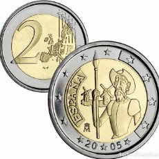 Euros: 2 EUROS ESPAÑA CONMEMORATIVA 2005 *EL QUIJOTE* EN CAPSULA-S /C. Lote 194637391