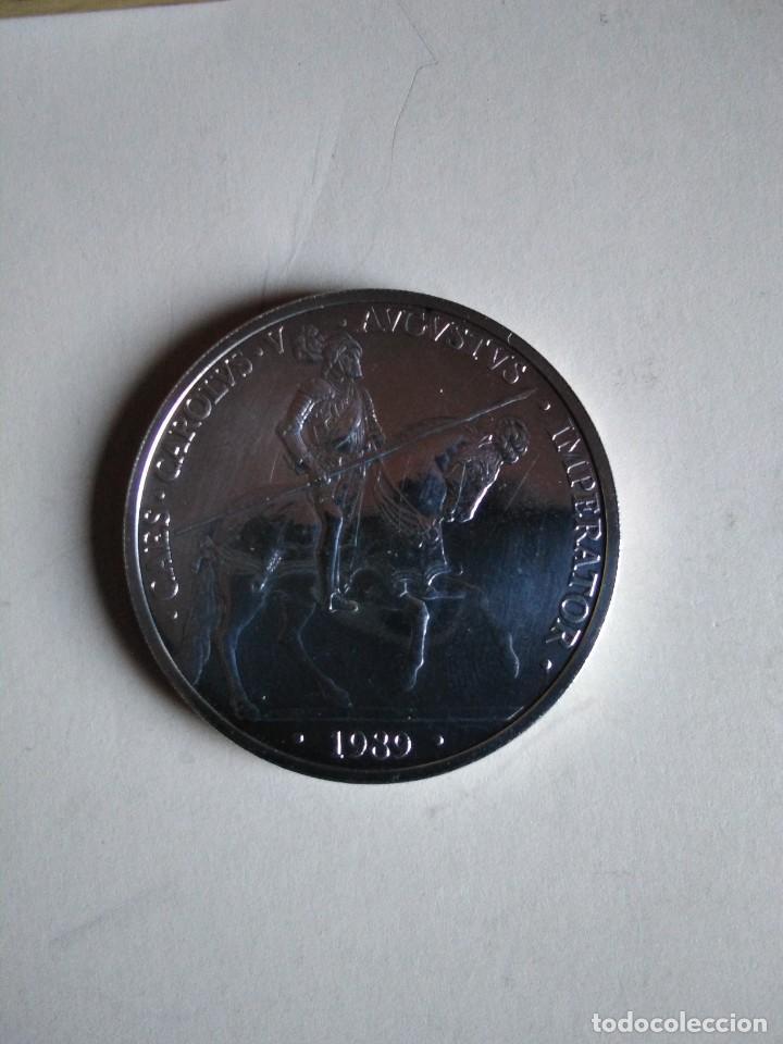 MONEDA DE PLATA DE 5 ECUS 1989,1 ONZA TROY, CARLOS V (Numismática - España Modernas y Contemporáneas - Ecus y Euros)