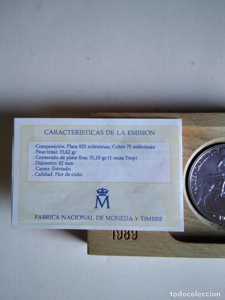 Euros: Moneda de plata de 5 ecus 1989,1 onza troy, Carlos v - Foto 3 - 154475798