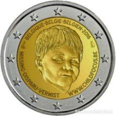 Euros: 2 EUROS CONMEMORATIVA BELGICA 2016 CHILD FOCUS NIÑO SC. Lote 254262715