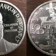 Euros: HOLANDA 2,5 ECUS NIEDERLANDEN 1994 HOMENAJE AL PRESIDENTE DE EEUU FRANKLIN D. ROOSEVELT . Lote 155245614
