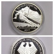 Euros: ROLLO ALEMANIA 2011 ESQUI ALPINO PLATA 925. CARTUCHO.. Lote 156735898
