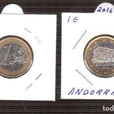 Euros: 1 EURO ANDORRA 2016 S/C LOS QUE VES UNA MONEDA. Lote 156995586