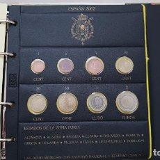 Euros: ESPAÑA 2002 LOTE DE MONEDAS DE EUROS DE 1 CÉNTIMO A 2 EUROS. Lote 157853682