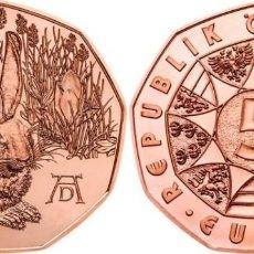 Euros: AUSTRIA 5 EUROS 2016 LIEBRE JOVEN DE ALBERTO DURERO. Lote 262584235