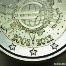 Euros: 2 EUROS ESPAÑA 2012 ESTRELLAS REPINTADAS - ERROR - VARIANTE - SIN CIRCULAR. Lote 158113930