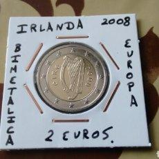 Euros: MONEDA 2 EUROS IRLANDA 2008 MBC ENCARTONADA. Lote 234465425