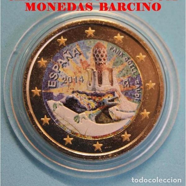 2014 MONEDA DE 2 EUROS COLOR CONMEMORATIVOS PARK GUELL GAUDI BARCELONA (Numismática - España Modernas y Contemporáneas - Ecus y Euros)