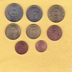 Euros: SÉRIE COMPLETA EUROS CHURRIANA MALAGA. 8 MONEDAS. PRUEBA OFICIAL CASA MONEDA Y TIMBRE. ESPAÑA. VER . Lote 159564426