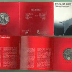Euros: PLATA ESPAÑA. BLISTER 12 EUROS 2002. 18 GRAMOS 925 MILÉSIMAS. Lote 173017232