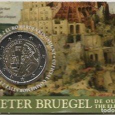 Euros: BELGICA 2019. COINCARD DE 2 EUROS DEDICADO A PIETER BRUEGEL, EL VIEJO. VERSION ALEMANA.. Lote 182094258