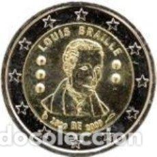 Euros: BÉLGICA 2009. 2 EUROS. BICENTENARIO DEL NACIMIENTO DE LOUIS BRAILLE. S/C. Lote 195408292