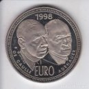Euros: MONEDA DE PRUEBA DE 10 EUROS DE FRANCIA DEL AÑO 1998 DE GAULLE Y ADENAUER (NUEVA EN CAPSULA). Lote 160719894